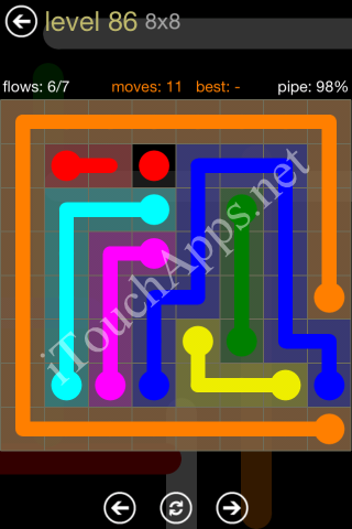 Flow Game 8x8 Mania Pack Level 86 Solution