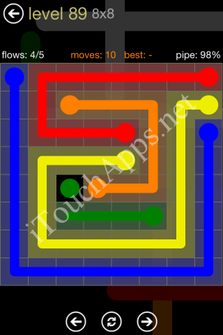 Flow Game 8x8 Mania Pack Level 89 Solution
