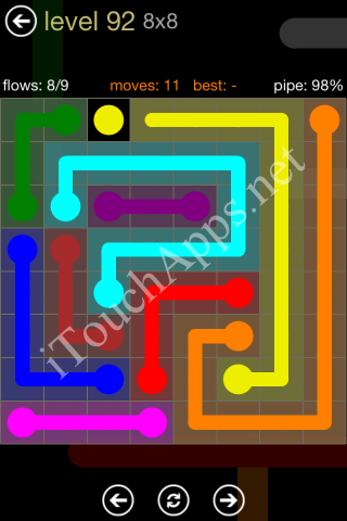 Flow Game 8x8 Mania Pack Level 92 Solution
