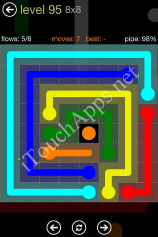 Flow Game 8x8 Mania Pack Level 95 Solution