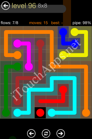 Flow Game 8x8 Mania Pack Level 96 Solution