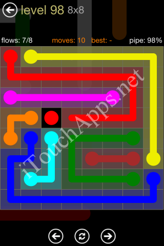 Flow Game 8x8 Mania Pack Level 98 Solution