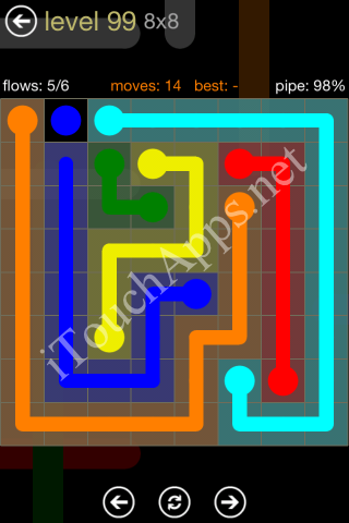 Flow Game 8x8 Mania Pack Level 99 Solution