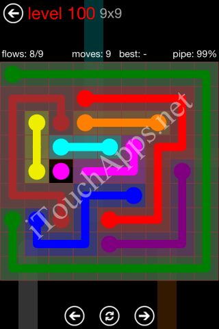 Flow Game 9x9 Mania Pack Level 100 Solution