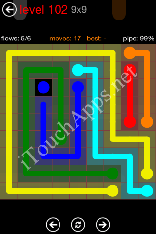 Flow Game 9x9 Mania Pack Level 102 Solution