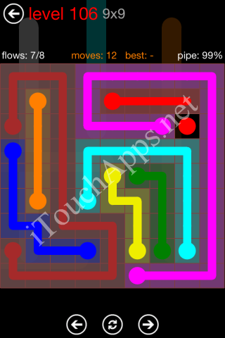 Flow Game 9x9 Mania Pack Level 106 Solution