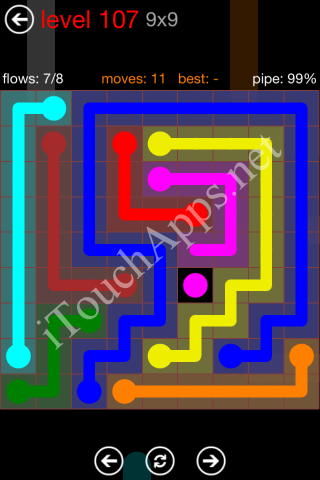 Flow Game 9x9 Mania Pack Level 107 Solution