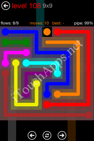 Flow Game 9x9 Mania Pack Level 108 Solution