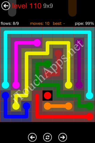 Flow Game 9x9 Mania Pack Level 110 Solution