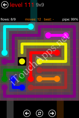 Flow Game 9x9 Mania Pack Level 111 Solution