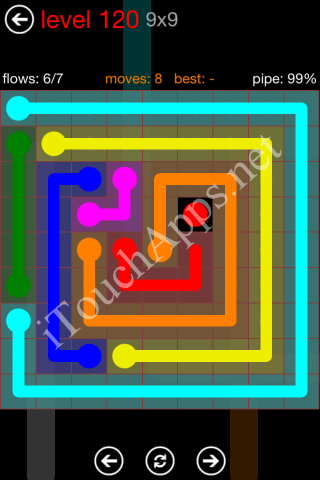 Flow Game 9x9 Mania Pack Level 120 Solution