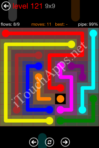 Flow Game 9x9 Mania Pack Level 121 Solution