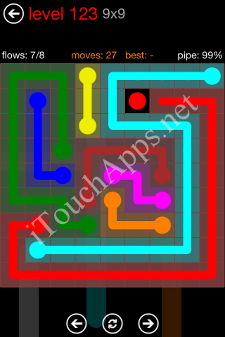 Flow Game 9x9 Mania Pack Level 123 Solution