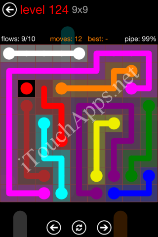 Flow Game 9x9 Mania Pack Level 124 Solution