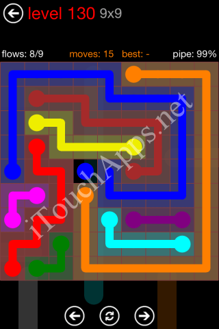 Flow Game 9x9 Mania Pack Level 130 Solution