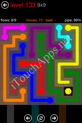 Flow Game 9x9 Mania Pack Level 133 Solution