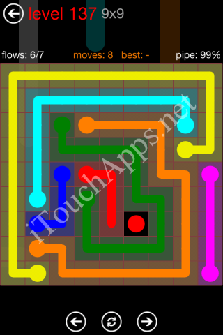 Flow Game 9x9 Mania Pack Level 137 Solution
