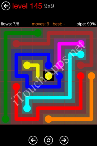 Flow Game 9x9 Mania Pack Level 145 Solution