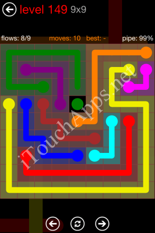 Flow Game 9x9 Mania Pack Level 149 Solution