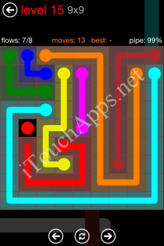 Flow Game 9x9 Mania Pack Level 15 Solution