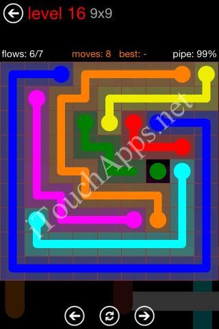 Flow Game 9x9 Mania Pack Level 16 Solution