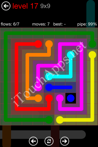 Flow Game 9x9 Mania Pack Level 17 Solution