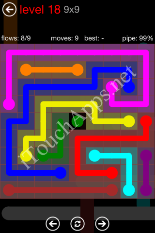 Flow Game 9x9 Mania Pack Level 18 Solution