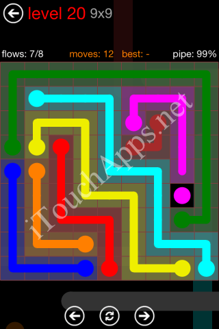 Flow Game 9x9 Mania Pack Level 20 Solution