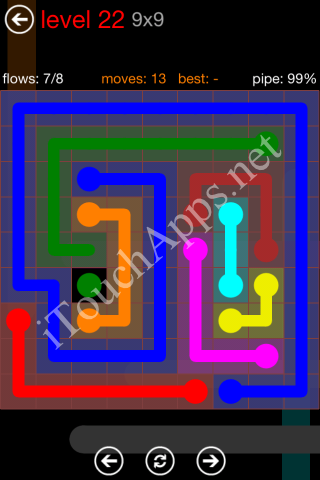 Flow Game 9x9 Mania Pack Level 22 Solution