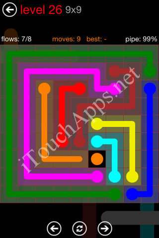 Flow Game 9x9 Mania Pack Level 26 Solution