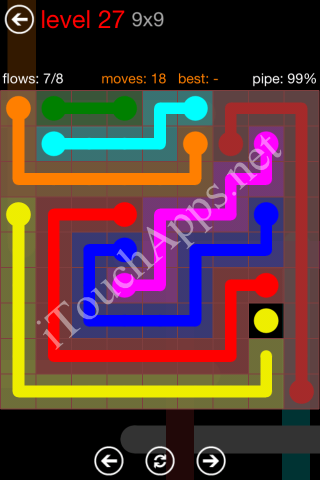 Flow Game 9x9 Mania Pack Level 27 Solution