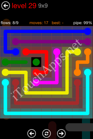 Flow Game 9x9 Mania Pack Level 29 Solution
