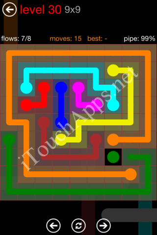 Flow Game 9x9 Mania Pack Level 30 Solution