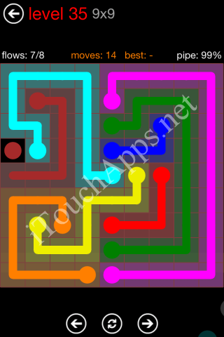Flow Game 9x9 Mania Pack Level 35 Solution