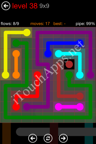 Flow Game 9x9 Mania Pack Level 38 Solution