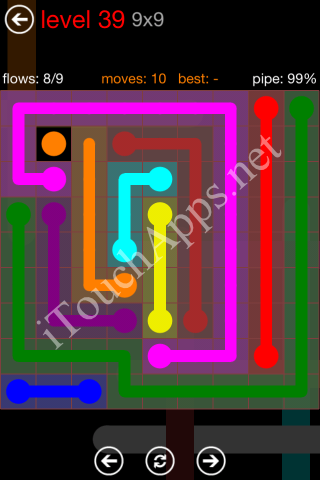 Flow Game 9x9 Mania Pack Level 39 Solution