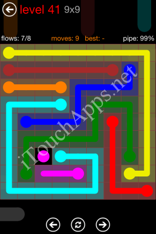 Flow Game 9x9 Mania Pack Level 41 Solution