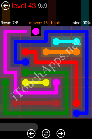 Flow Game 9x9 Mania Pack Level 43 Solution
