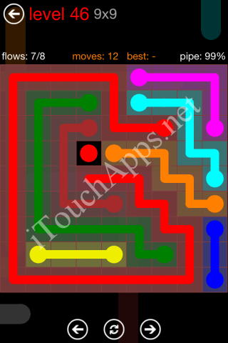 Flow Game 9x9 Mania Pack Level 46 Solution