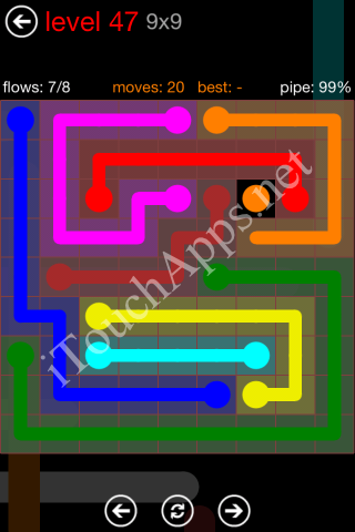 Flow Game 9x9 Mania Pack Level 47 Solution