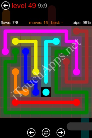 Flow Game 9x9 Mania Pack Level 49 Solution