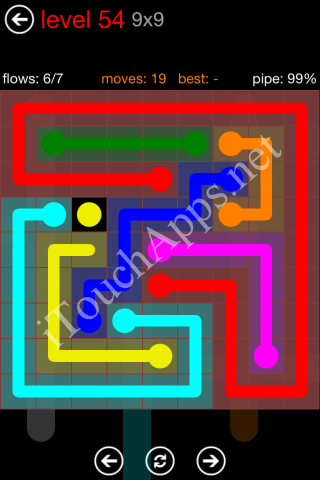 Flow Game 9x9 Mania Pack Level 54 Solution