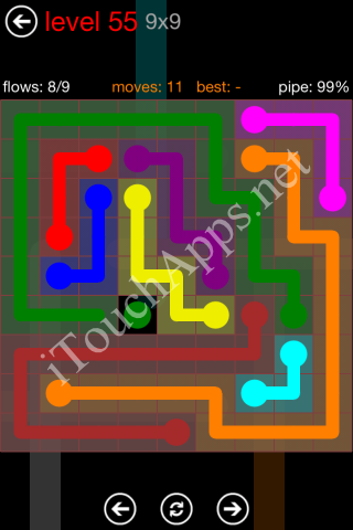 Flow Game 9x9 Mania Pack Level 55 Solution
