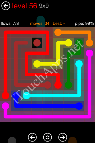 Flow Game 9x9 Mania Pack Level 56 Solution