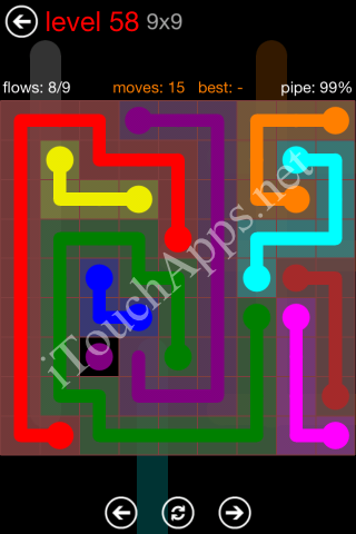 Flow Game 9x9 Mania Pack Level 58 Solution