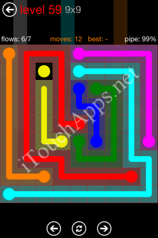 Flow Game 9x9 Mania Pack Level 59 Solution
