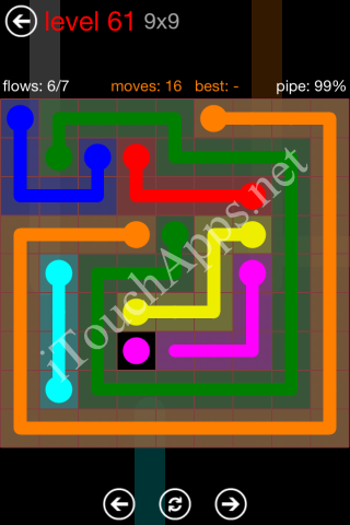 Flow Game 9x9 Mania Pack Level 61 Solution