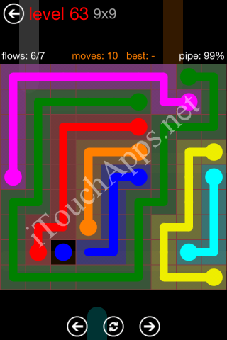 Flow Game 9x9 Mania Pack Level 63 Solution