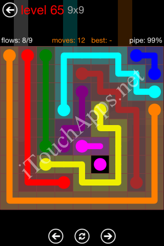 Flow Game 9x9 Mania Pack Level 65 Solution