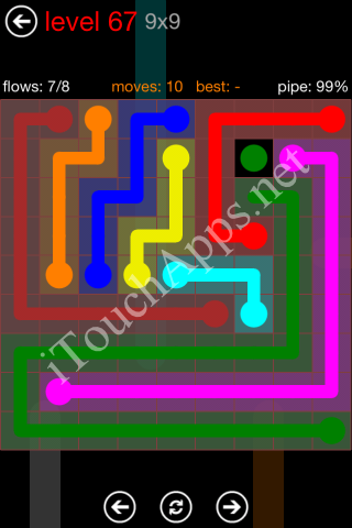 Flow Game 9x9 Mania Pack Level 67 Solution